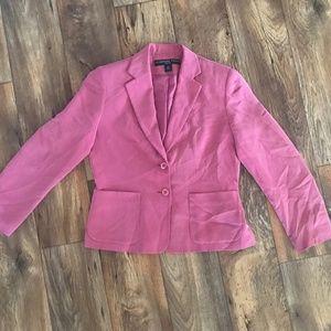 Josephine Chaus Petite Women Blazer Pink 100% Silk